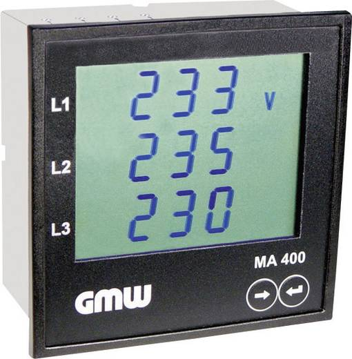 GMW MA400AMK400V5A PROFIBUS DP Multifunktionales Leistungsmessgerät MA 400 AMK 3 x 400 V/AC, 3 x 5 A/AC Einbaumaße 92 x