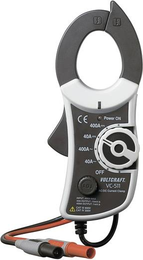 VOLTCRAFT VC-511 Stromzangenadapter Messbereich A/AC (Bereich): 0 - 400 A Messbereich A/DC (Bereich): 0 - 400 A Kalibri