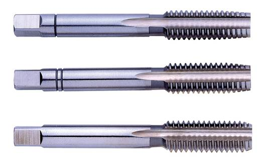 Eventus 10064 Handgewindebohrer-Set 3teilig metrisch M1 0.25 mm Rechtsschneidend DIN 352 HSS 1 Set