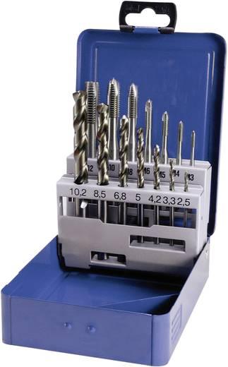 Maschinengewindebohrer-Set 14teilig metrisch Rechtsschneidend Eventus 10337 DIN 371, DIN 376 HSS-E Form B 1 Set