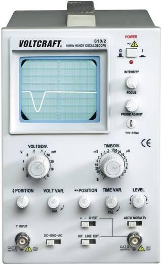 Analog-Oszilloskop VOLTCRAFT AO-610-2 10 MHz 1-Kanal Kalibriert nach ISO