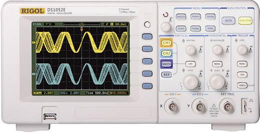 Digital-Oszilloskop Rigol DS1052E 50 MHz 2-Kanal 500 MSa/s 512 kpts 8 Bit Kalibriert nach ISO Digital-Speicher (DSO)