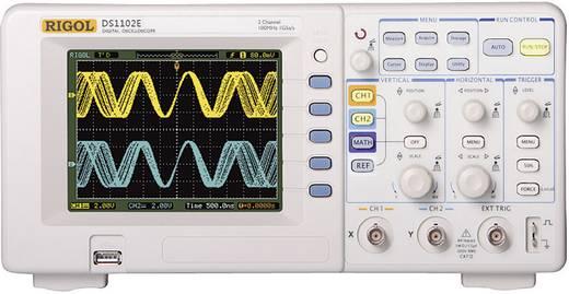 Digital-Oszilloskop Rigol DS1102E 100 MHz 2-Kanal 500 MSa/s 512 kpts 8 Bit Kalibriert nach ISO Digital-Speicher (DSO)