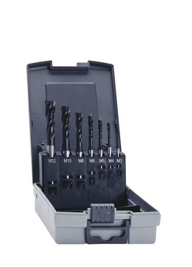 Eventus 12394 Maschinengewindebohrer-Set 7teilig metrisch Rechtsschneidend DIN 371, DIN 376 HSS-E 35° RSP 1 Set