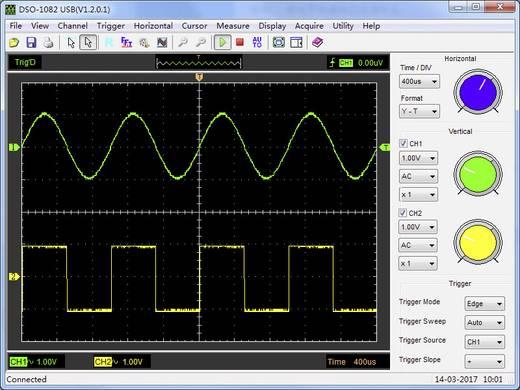 USB-Oszilloskop VOLTCRAFT DSO-1082 USB 80 MHz 2-Kanal 250 MSa/s 64 kpts 8 Bit Digital-Speicher (DSO), Spectrum-Analyser