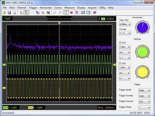 VOLTCRAFT DSO-1082 USB USB-Oszilloskop 80 MHz 2-Kanal 250 MSa/s 64 kpts 8 Bit Digital-Speicher (DSO), Spectrum-Analyser