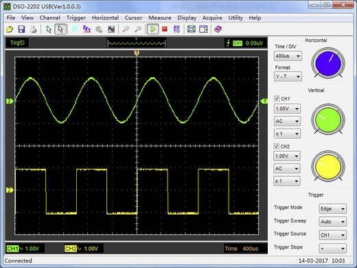 Oszilloskop-Vorsatz VOLTCRAFT DSO-2202 USB 200 MHz 2-Kanal 250 MSa/s 1 Mpts 8 Bit Digital-Speicher (DSO), Spectrum-Anal