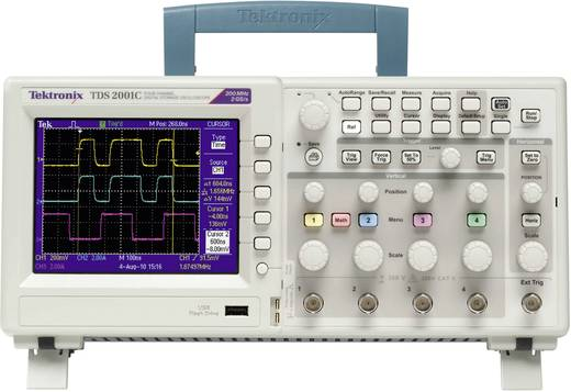 Digital-Oszilloskop Tektronix TDS2001C 50 MHz 2-Kanal 500 MSa/s 2.5 kpts 8 Bit Kalibriert nach ISO Digital-Speicher (DSO