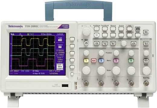 Digital-Oszilloskop Tektronix TDS2012C 100 MHz 2-Kanal 2 GSa/s 2.5 kpts 8 Bit Kalibriert nach DAkkS Digital-Speicher (DS
