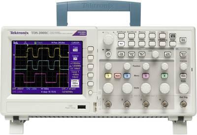 Oscilloscopio digitale Tektronix TDS2001C 50 MHz 2 canali 500 MSa/s 2.5 kpts 8 Bit Memoria digitale (DSO), Analizzatore