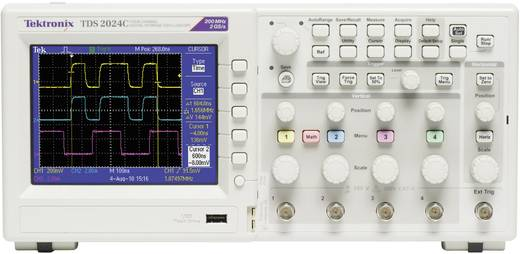 Digital-Oszilloskop Tektronix TDS2024C 200 MHz 4-Kanal 2 GSa/s 2.5 kpts 8 Bit Kalibriert nach DAkkS Digital-Speicher (DS
