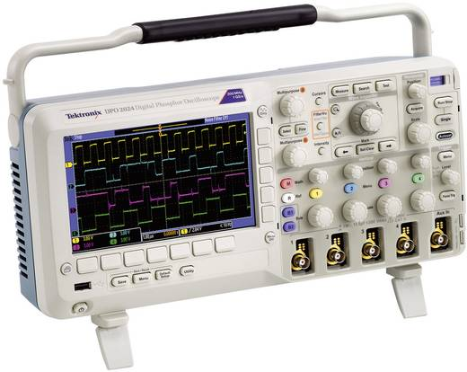 Tektronix DPO2024B Digital-Oszilloskop 200 MHz 4-Kanal 1 GSa/s 1 Mpts 8 Bit Kalibriert nach ISO Digital-Speicher (DSO)