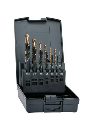Maschinengewindebohrer-Set 14teilig metrisch Rechtsschneidend Exact 43679 DIN 371, DIN 376 HSS-E 35° RSP 1 Set