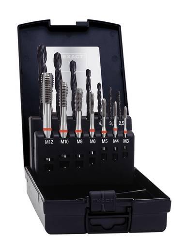 Maschinengewindebohrer-Set 14teilig metrisch Rechtsschneidend Exact 43695 DIN 371, DIN 376 HSS-E Form B 1 Set