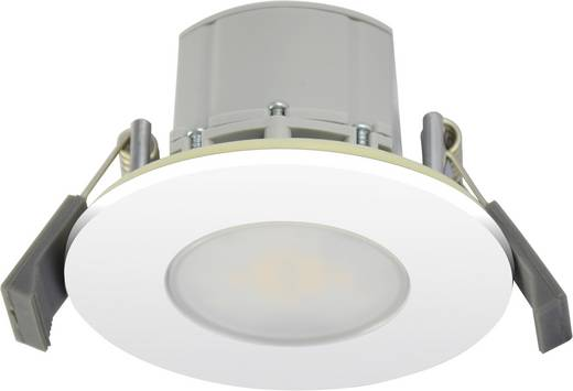 Müller Licht 57024 LED-Einbauleuchte 8 W Warm-Weiß Silber-Grau, Weiß