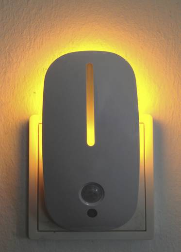 Müller Licht 57022 Nachtlicht mit Bewegungsmelder Oval LED Amber Weiß