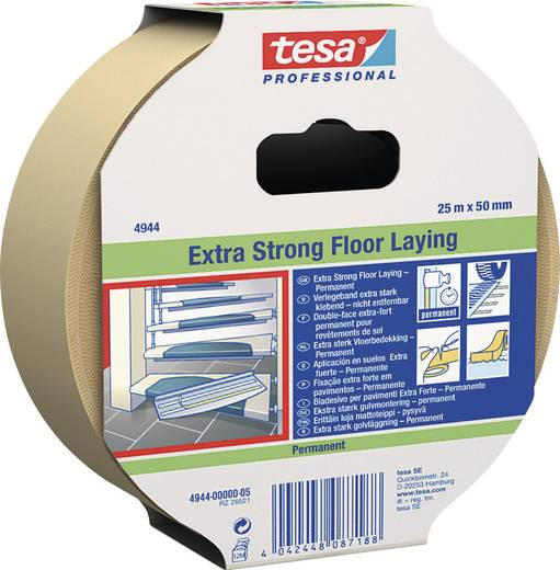 Doppelseitiges Klebeband tesafix® 4944 Weiß (L x B) 25 m x 50 mm tesa 4944-0-5 1 Rolle(n)