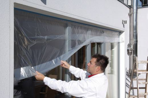 Kreppband tesa Easy Cover® 4369 Transparent (L x B) 33 m x 1.40 m tesa 04372-1-1 1 Rolle(n)