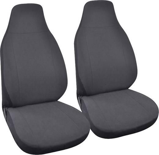 Sitzbezug 4teilig Eufab 28295 SMART Polyester, Velours Anthrazit Fahrersitz, Beifahrersitz