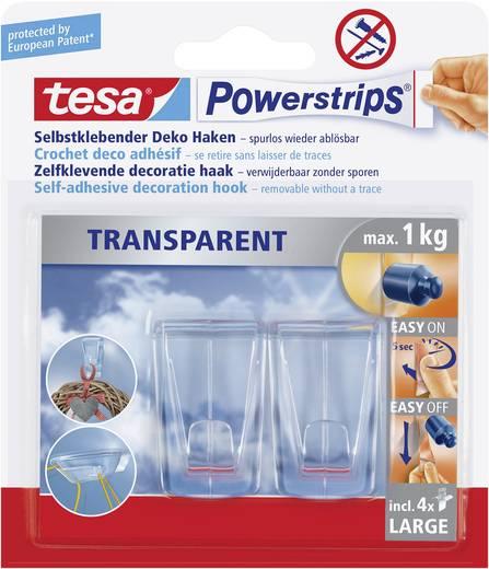 tesa® Powerstrips® Haken Transparent Transparent 58813-0-0 tesa Inhalt: 1 Pckg.