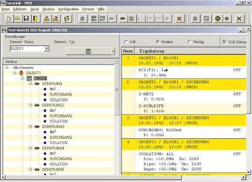 Metrel A 1196 Software A 1196 EuroLink PRO gemäß ZVEH, Passend für (Details) Eurotest 20991232