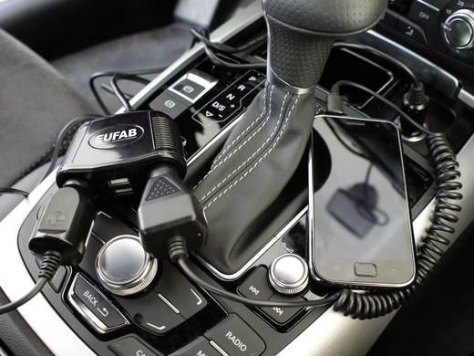 Eufab Doppelsteckdose 12V mit Kabel und USB-Anschluss Belastbarkeit Strom max.=10 A Passend für (Details) Zigaretten