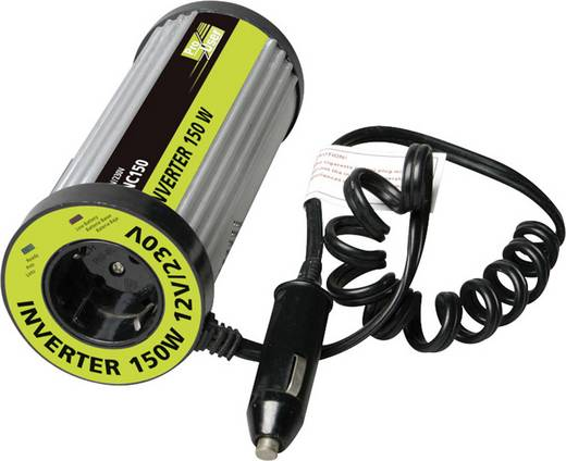Wechselrichter ProUser INC150N 150 W 12 V/DC Dosenform für Getränkehalter Zigarettenanzünder-Stecker Schutzkontakt-Stec