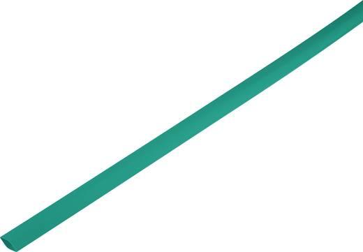 Schrumpfschlauch ohne Kleber Grün 1 mm Schrumpfrate:2:1 1225413 Meterware