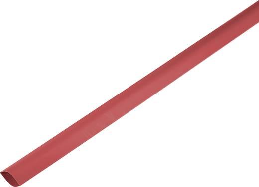 Schrumpfschlauch ohne Kleber Rot 100 mm Schrumpfrate:2:1 1225461 Meterware