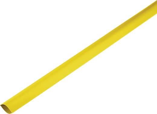 Schrumpfschlauch ohne Kleber Gelb 80 mm Schrumpfrate:2:1 1225482 Meterware
