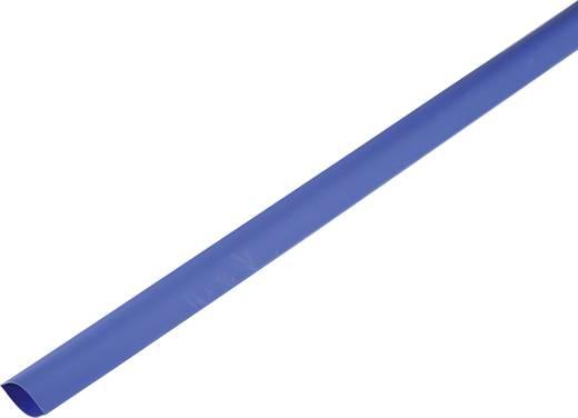 Schrumpfschlauch ohne Kleber Blau 80 mm Schrumpfrate:2:1 1225526 Meterware