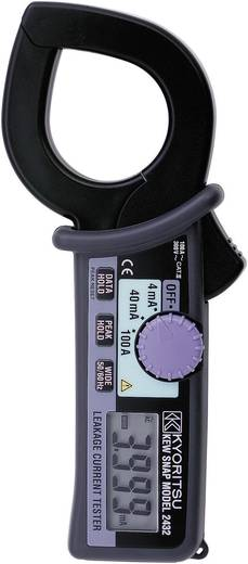 Stromzange, Hand-Multimeter digital Kyoritsu KEW 2432 Kalibriert nach: ISO CAT III 300 V Anzeige (Counts): 4000