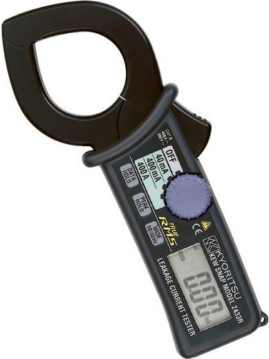 Stromzange, Hand-Multimeter digital Kyoritsu KEW 2433R Kalibriert nach: DAkkS CAT III 300 V Anzeige (Counts): 4000