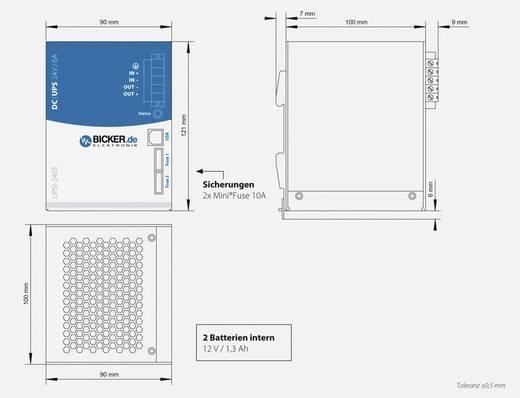 Industrielle USV-Anlage (DIN Rail) Bicker Elektronik UPSI-2403, 24 V/DC, 144 W