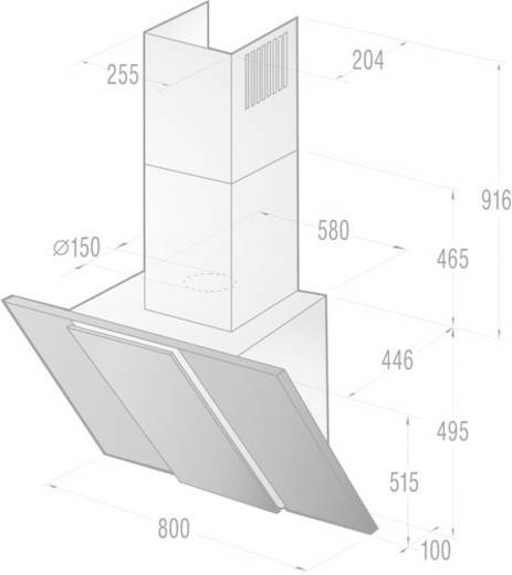 kamin dunstabzugshaube edelstahl 80 cm. Black Bedroom Furniture Sets. Home Design Ideas