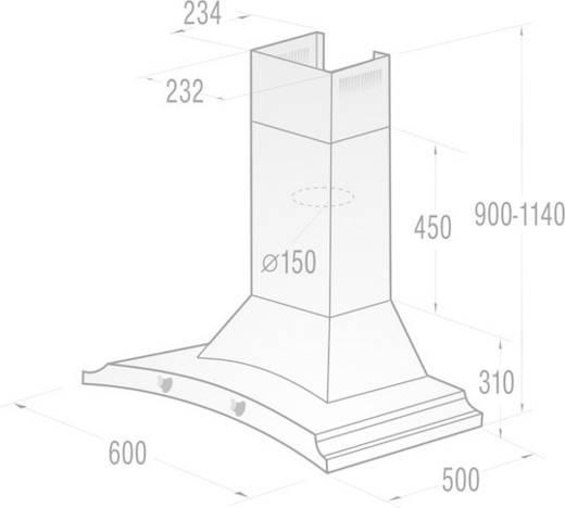 Wand-Dunstabzugshaube 60 cm Gorenje Classico DK63MCLI D 65 dB Elfenbein