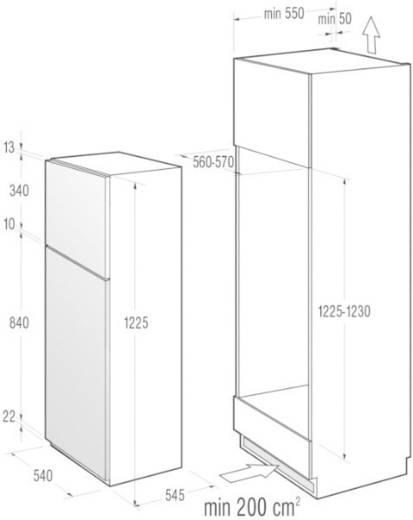 Kühl-Gefrier-Kombination 193 l Gorenje RFI4121AW EEK A+ Weiß