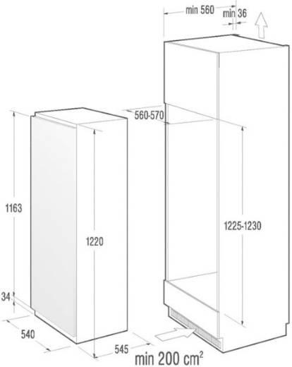 Kühlschrank 217 l Gorenje RI4122AW Energieeffizienzklasse (A+++ - D): A++ Einbaugerät Weiß