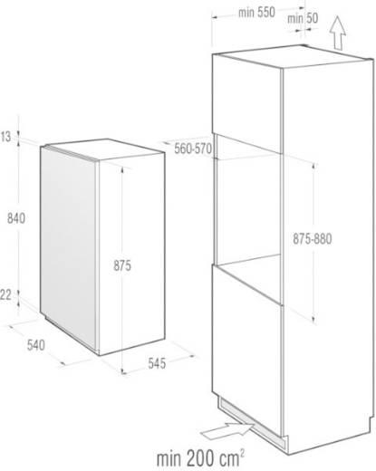 Kühlschrank 145 l Gorenje RI4091AW Energieeffizienzklasse (A+++ - D): A+ Einbaugerät Weiß