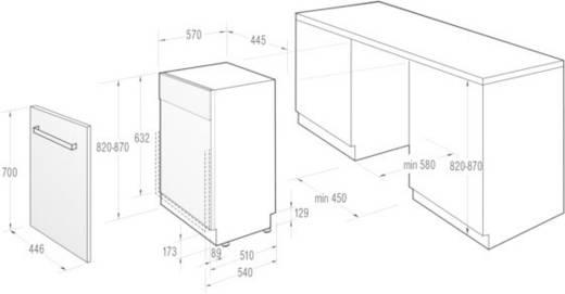vollintegrierbarer geschirrsp ler 45 cm. Black Bedroom Furniture Sets. Home Design Ideas
