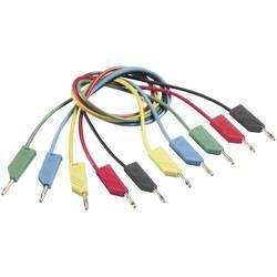 Měřicí kabel banánek 4 mm ⇔ banánek 4 mm SKS Hirschmann CO MLN 25/1, 0,25 m, zelená