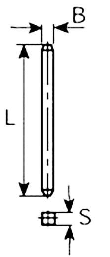 Kontaktstift Kontaktoberfläche verzinnt Vogt Verbindungstechnik 950.68 100 St.