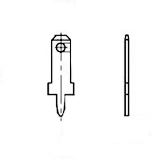 Steckzunge Steckbreite: 2.8 mm Steckdicke: 0.5 mm 180 ° Unisoliert Metall Vogt Verbindungstechnik 3780a05.68 100 St.