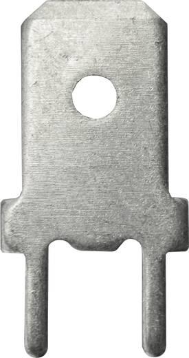 Steckzunge Steckbreite: 6.3 mm 180 ° Unisoliert Metall Vogt Verbindungstechnik 3866g.68 100 St.