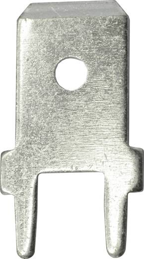 Steckzunge Steckbreite: 6.3 mm Steckdicke: 0.8 mm 180 ° Unisoliert Metall Vogt Verbindungstechnik 3866a.61 100 St.
