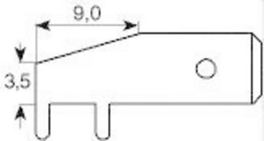 Steckzunge Steckbreite: 6.3 mm Steckdicke: 0.8 mm 90 ° Unisoliert Metall Vogt Verbindungstechnik 3867d.68 1 St.