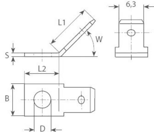 Vogt Verbindungstechnik 3841.8 Steckzunge Steckbreite: 6.3 mm Steckdicke: 0.8 mm 45 ° Unisoliert Metall 1 St.