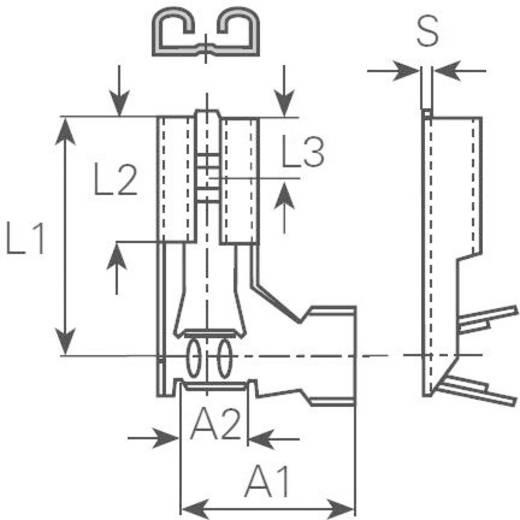 Flachsteckhülse Steckbreite: 4.8 mm Steckdicke: 0.8 mm 90 ° Unisoliert Metall Vogt Verbindungstechnik 380208.67 1 St.