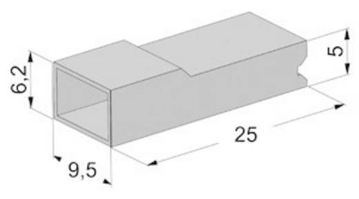 Isolierhülse Transparent 0.50 mm² 2.50 mm² Vogt Verbindungstechnik 3941pa 1 St.