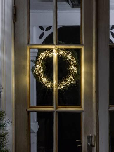 Konstsmide 2890-803 Fenster-Dekoration Kranz Warm-Weiß LED Gold